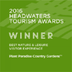 Plant Paradise Country Gardens ™ is the 2016 Headwaters Tourism award winner for Best Nature & Leisure Visitor Experience.